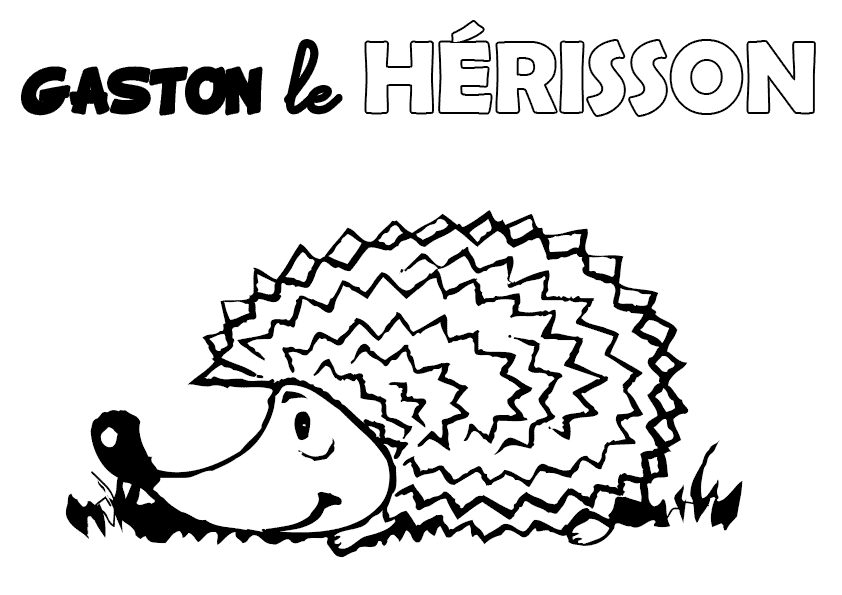 coloriage : Gaston le hérisson